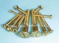 Brass Wood screws By Cutting Threads