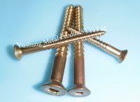Silicon Bronze Square Drive Flat Head Wood Screws
