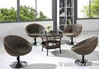 Poly rattan coffee set