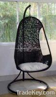 Poly rattan swing chair