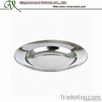 Stainless steel food plate