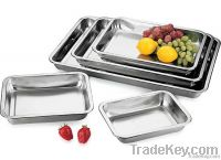 Stainless steel dinner serving food tray