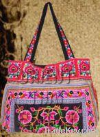 Hmong Ethnic handmade bag vintage thailand.Embroidery purse Boho tote