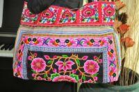 Hmong Ethnic handmade bag vintage thailand.Embroidery purse Boho