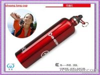 Single wall 750ml hot sports water bottle with carabiner