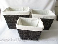 willow food basket with handles