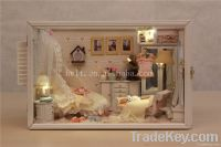 DIY doll house, Valentine's Day gifts hand-assembled model house