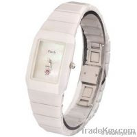 fashion black and white men and women square wrist brand watch