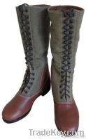 WW2 German Army military Dak tropical high boots with hobnails