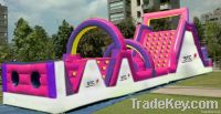 2013 popular cheap inflatable obstacle game park