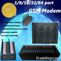 16 ports usb/rj45/rs232 gsm modem for sending and receiving bulk sms