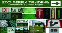 PHOTOLUMINESCENT/LUMINOUS/GLOW IN THE DARK SAFETY SIGN