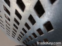 Square hole perforated plate