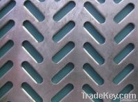 Long round hole perforated plate
