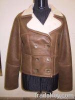 Ladies Outerwear Double Face Leather Blazer