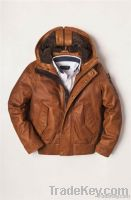 Kids Leather Jacket With Hood