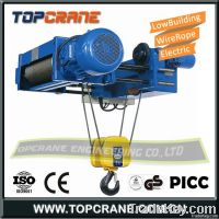 Low headroom and Low building wire rope hoist 8ton