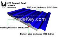EPS/PU insulation sandwich panel