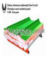 Glasswool/rockwool Sandwichi Panel For Wall And Roof