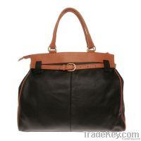 Satchel Nappa Beige Leather Handbags