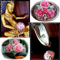 Sweet Pink Handmade Soap Carved Flower