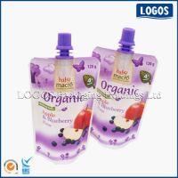 Juice Packaging Bottom Gusset Plastic Spout Pouch