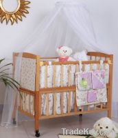 Happy Baby MC602 Pinewood Baby Crib Natural
