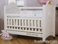 Happy Baby SC1002 Pinewood Baby Bed White