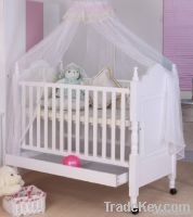Happy Baby MC625 Pinewood White Baby Crib With Drawer