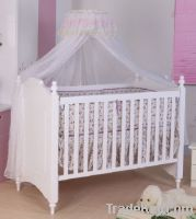 Happy Baby MC623 Pinewood White Baby Bed
