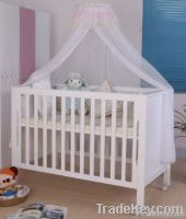 Happy Baby MC618 Pinewood White Baby Bed