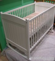 Happy Baby MC620 Pinewood Baby White Cradle