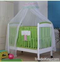 Happy Baby MC151 Pinewood White Green Baby Crib With Drawer