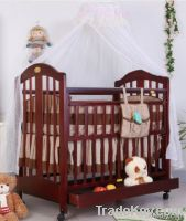 Happy Baby MC220 Pinewood Coffee Baby Bed