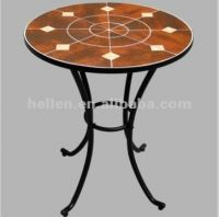 """24""""round dining mosaic table and chair set,wrought iron garden furniture modern tile mosaic outodor patio furniture coffee table"""