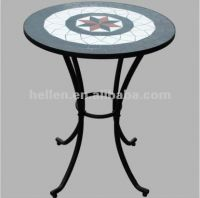 """60cm/24""""round dining table and chairs set,wrought iron garden furniture modern ceramic tile outodor patio furniture coffee table"""