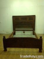 antique nuristani bed