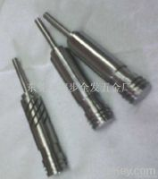 CNC custom machining titanium knurled shaft, milling flat position