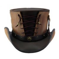Leather Hats With Clockwork Band For Men