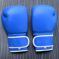 Real Leather Black Boxing Gloves Supplier