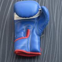 Real Blue Leather Boxing Gloves Supplier