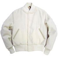 All White Wool Varsity Jacket, Men Varsity Jackets