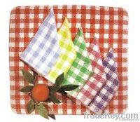 100% cotton yarn dyed dish clean cloth