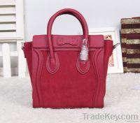 Smiling face bags matched color original leahter fashion handbags
