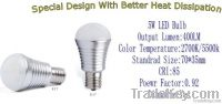 Dimmable 5W LED Bulb Light Rohs/CE/PSE