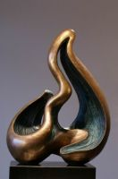 patina finished cast bronze sculpture