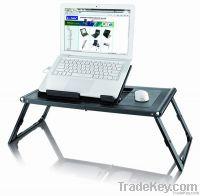plastic laptop desk with two fans