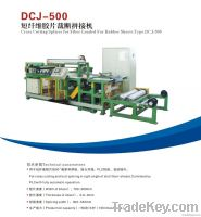 Cross cutting splicer for fiber loaded for rubber sheets