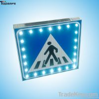 Aluminum LED solar pedestrian sign