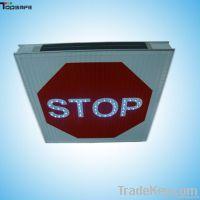 Aluminum LED solar stop sign